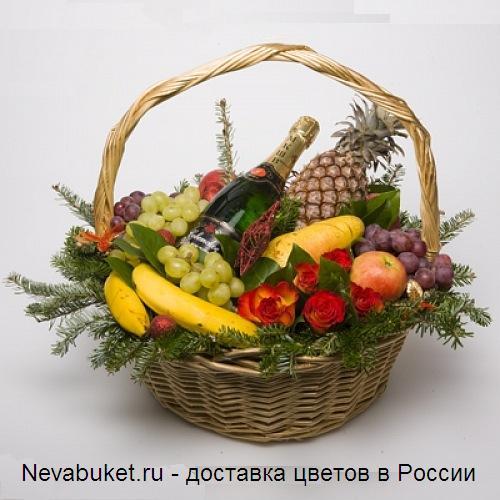 Украсить корзину с фруктами своими руками