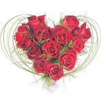 Букеты в форме сердца, розы сердцем, цветы на 14 февраля