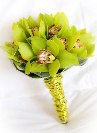 Свадебный букет из орхидей, букеты из орхидей, букет из орхидей на